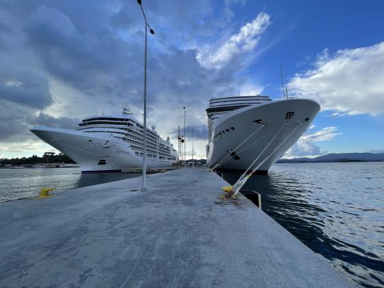 Grössen Vergleich MSC zu Silversea